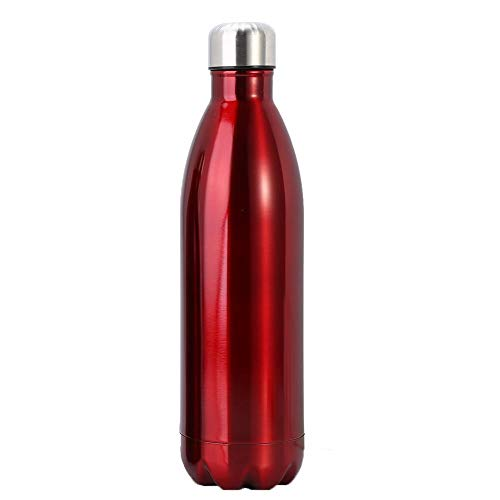 Water Bottle, Double Wall Insulated Leak Proof Stainless Steel Vacuum Cup for Camping Hiking Cycling Christmas Gift(500ML-Red)