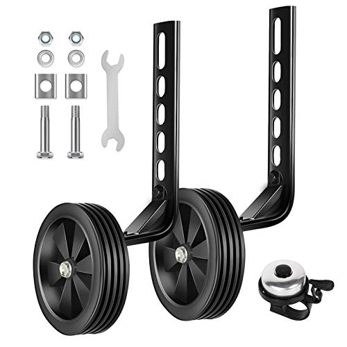 BNKIHDD Bicycle Training Wheels for Kids Stronger Version Replacement Adjustable Bicycles Stabilizer for Children, Suitable for 12/14/ 16/18/ 20/ inch Children's Single Speed Bikes...