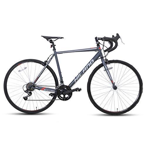 Hiland Road Bike 700C Racing Bicycle with Shimano 14 Speeds Black 58cm