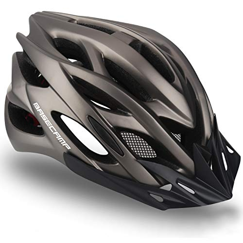 Specialized Bike Helmet, Basecamp Bicycle Helmet with Helmet Accessories-Led Light/Removable Visor/Portable Bag Cycling Helmet Bc-ddtk Adjustable for Adult Men&Women Road&Mountain