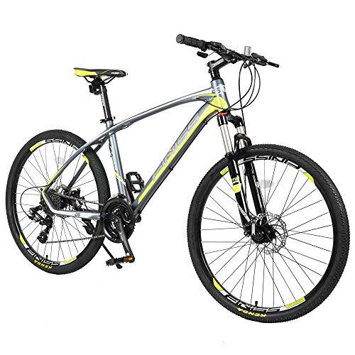 Merax 26' Aluminum 24-Speed Mountain Bike with Disc Brakes Lightweight Bicycle (Green)