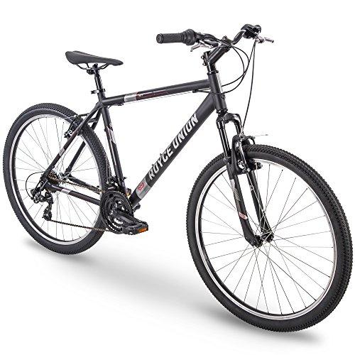 27.5' Royce Union RMT Mens 21-Speed All-Terrain Mountain Bike, 22' Aluminum Frame, Twist Shift, Matte Black