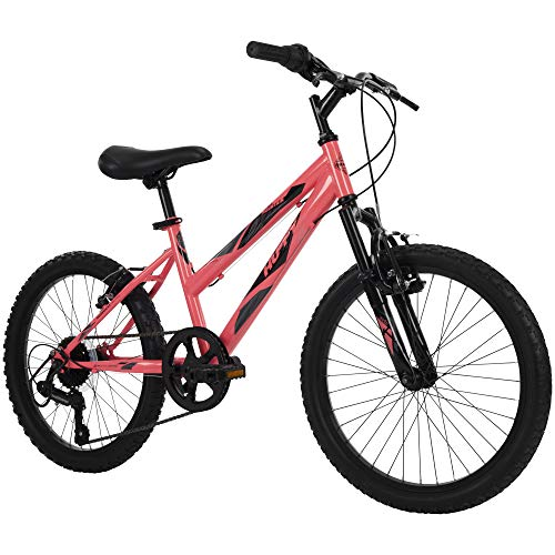 Huffy Kids Hardtail Mountain Bike for Girls, Stone Mountain 20 inch 6-Speed, Solar Flare, 20 Inch Wheels/13 Inch Frame, Model Number: 73818