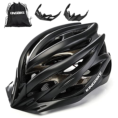Kingbike Bike Helmet Men Women Bicycle Adult Cycling Specialized Road Mountain MTB Helmets for Mens Womens Adults Casco para Bicicleta with Safety Light Portable Bag Accessories...