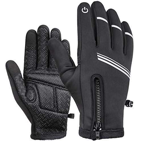 HIKENTURE Winter Cycling Gloves for Men and Women - Thermal Full Finger Bike Gloves - Touch Screen Windproof Warm Non-Slip Road Mountain Bicycle Gloves for...