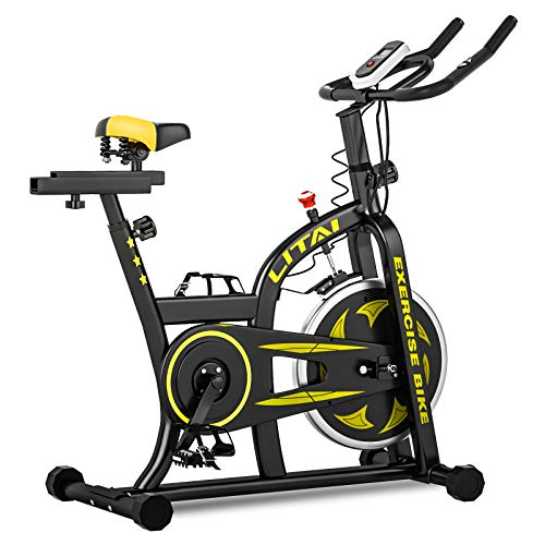 HANSTORM Exercise Bike, Indoor Cycling Bike with Heart Monitor, Stationary Bike Silent Bike, Cardio Bike for Home Gym Workout