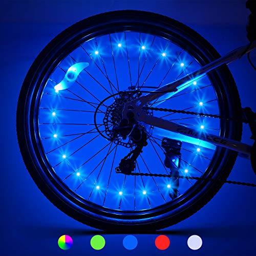 Bike Wheel Lights 2 Pack Gifts for Men Women Bike Lights for Wheels Waterproof Bicycle Accessories Teen Boy Gifts Bike Accessories for Adult Outdoor Toys Dad Birthday Xmas Gift...