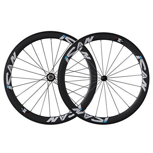 ICAN 50MM CARBON ROAD BIKE WHEELSET