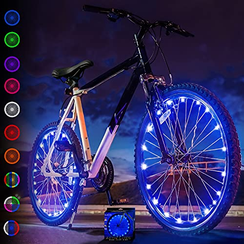 Activ Life Bike Wheel Lights (2 Tires, Blue) Best Gifts for Men for Christmas Stocking Stuffers & Birthday Gifts, Teens & Boys. Top Unique Presents for Kids 2021 Ideas for Him,...