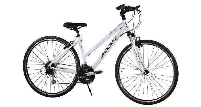XDS Womens Cross 300 24-Speed Step-Through Hybrid Bicycle Side View