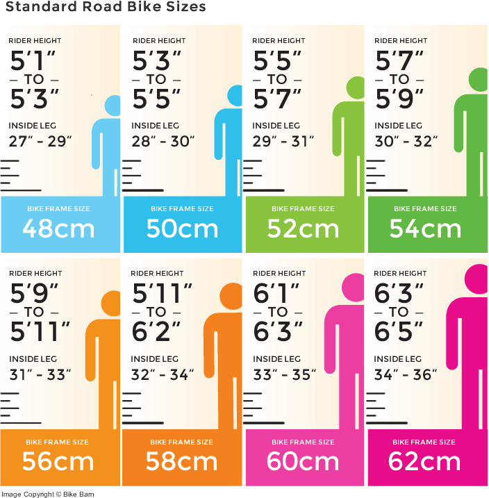 Road bike frame sizing
