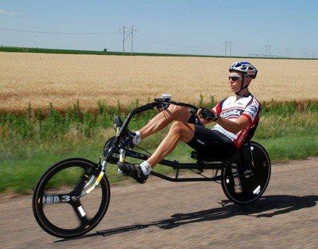 What are recumbent road bikes