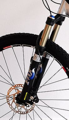 Bicycle fork close-up.