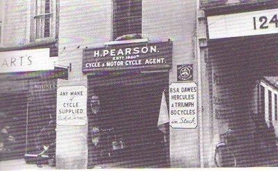 Pearsons bike shop, first name.