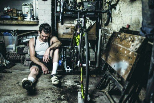 Man addicted to cycling