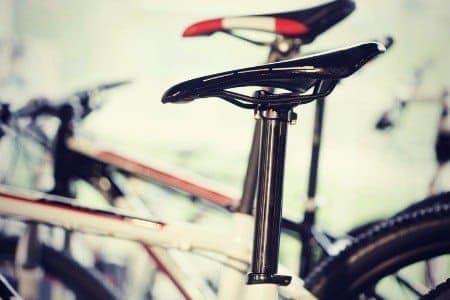 Bike saddle.