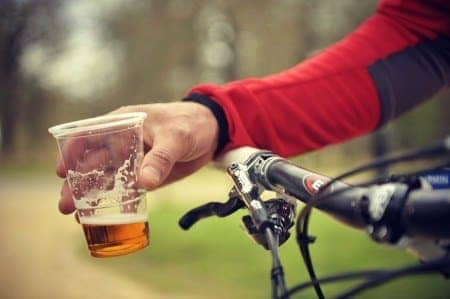 Beer and bike.