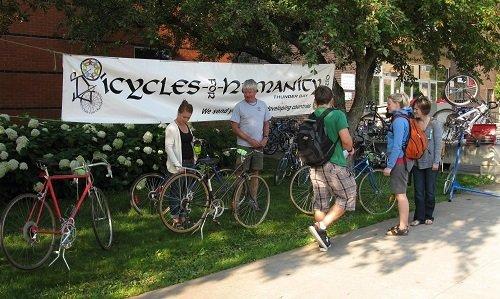 Bike yard sale.