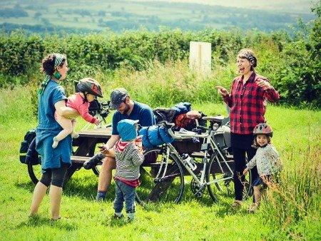 Bike tour with family.