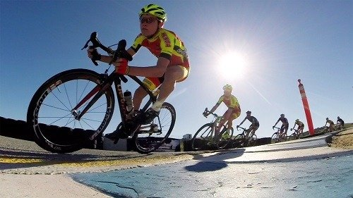 Cyclists full of energy.
