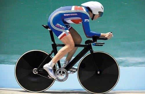 Competitor on a fast bike.