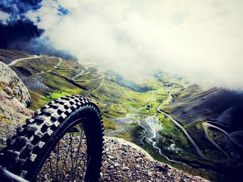 Wheel on top of the mountain