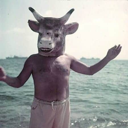 Picasso with bulls mask