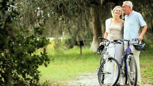 Seniors and bikes