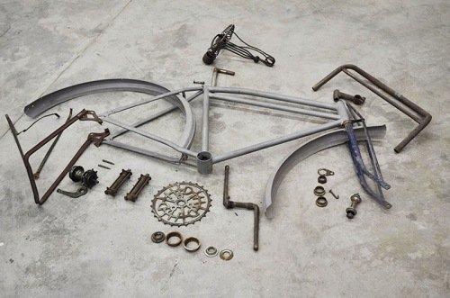 Vintage bike parts.