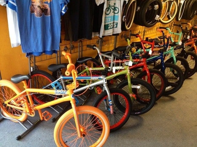 Shop full of BMX