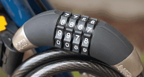 Bike Lock With Combination Numpad