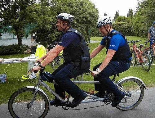 Tandem Bike Cops