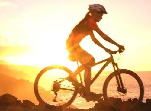 Beautiful Bike Sunset