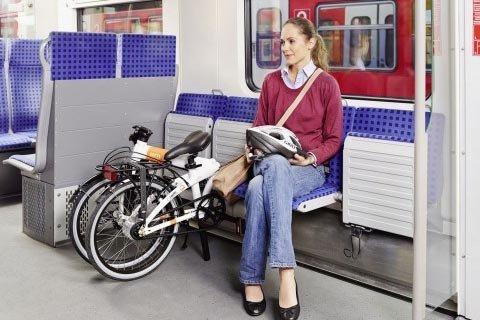 Folding Bike in Metro