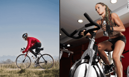 Exercise Bike vs Real Bike