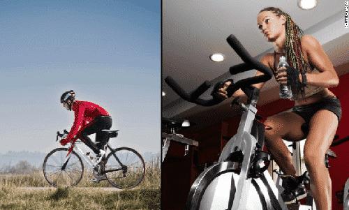Exercise Bike vs Real Bike