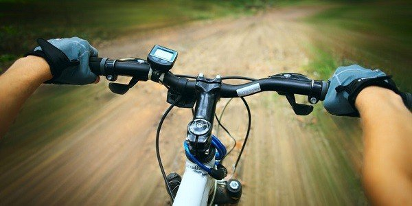 Bike handles with speedometer
