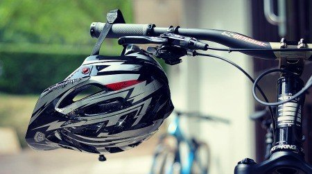 Bike and helmet.
