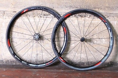 Two bike wheels