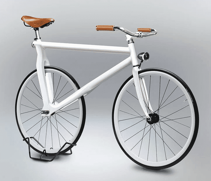 White bike on a white background