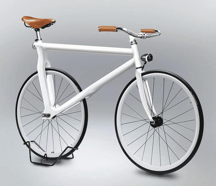 White bike on a white background