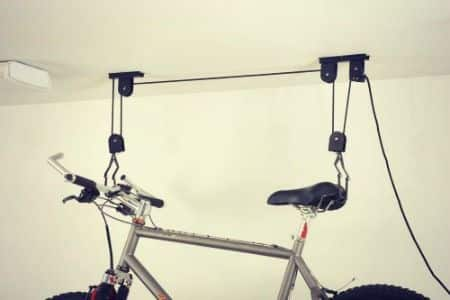 Bike storage - ceiling mount.