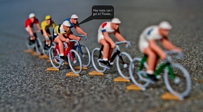 Cycling race with toys