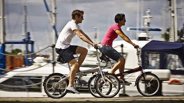 Riding Folding Bikes