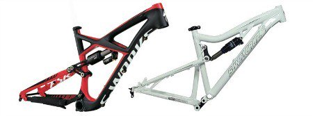 Frame of mountain bike.
