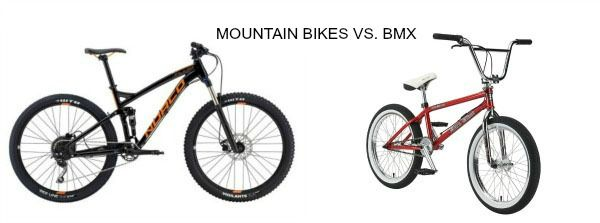 Mountain bike Vs. BMX