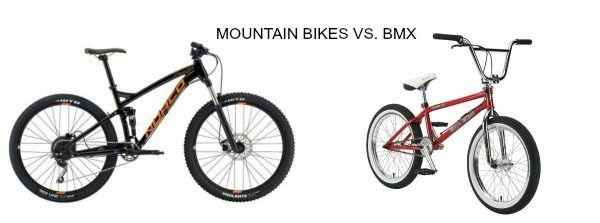 Mountain bike Vs. BMX