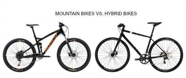 Mountain bike Vs. Hybrid bike