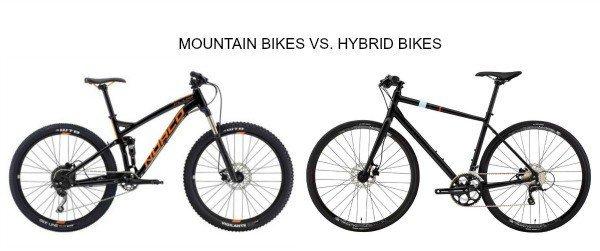 Mountain bike Vs. Hybrid bike