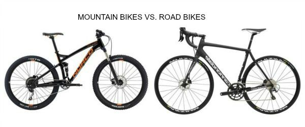 Mountain bike Vs. Road bike
